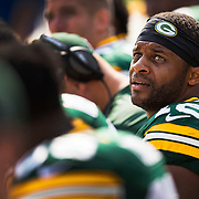 Randall Cobb during an NFL football game against the XXX in Green Bay, Wis., Sunday, Sept. 25, 2016. (Photographer Matt Ludtke/AP Images for Head & Shoulders)