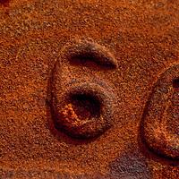 Detail of number on steel train wheel, Grand Trunk Railroad - HOK