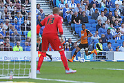 Hull City midfielder Ahmed Elmohamady attacks the goal during the Sky Bet Championship match between Brighton and Hove Albion and Hull City at the American Express Community Stadium, Brighton and Hove, England on 12 September 2015. Photo by Phil Duncan.