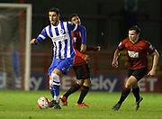 Tom Dallison, Brighton defender during the Barclays U21 Premier League match between Brighton U21 and U21 West Bromwich Albion at the Checkatrade.com Stadium, Crawley, England on 25 January 2016.
