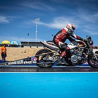Tom Gartrell (3294) launching his Honda CB1300 Turbo Modified Bike at the Perth Motorplex.