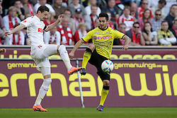 25.03.2012, Rhein Energie Stadion, Koeln, GER, 1. FBL, 1.FC Koeln vs Borussia Dortmund, 27. Spieltag, im Bild Milivoje NOVAKOVIC (1.FC Koeln #11) - Ilkay GUENDOGAN (BVB Borussia Dortmund #21) // during the German Bundesliga Match, 27th Round between 1.FC Koeln and Borussia Dortmund at the Rhein Energie Stadion, Koeln, Germany on 2012/03/25. EXPA Pictures © 2012, PhotoCredit: EXPA/ Eibner/ Gerry Schmit..***** ATTENTION - OUT OF GER *****