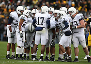 08 NOVEMBER 2008: Penn State quarterback Daryll Clark (17) huddles the offense in the first half of an NCAA college football game against Penn State, at Kinnick Stadium in Iowa City, Iowa on Saturday Nov. 8, 2008. Iowa beat Penn State 24-23.