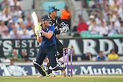 England Ben Stokes hits four runs during the Royal London One Day International match between England and New Zealand at the Oval, London, United Kingdom on 12 June 2015. Photo by Phil Duncan.
