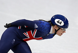 Great Britain's Charlotte Gilmartin on her way to finishing third in the Short Track Speed Skating - Ladies 1,500m Heat 3 at the Gangneung Oval during day eight of the PyeongChang 2018 Winter Olympic Games in South Korea.