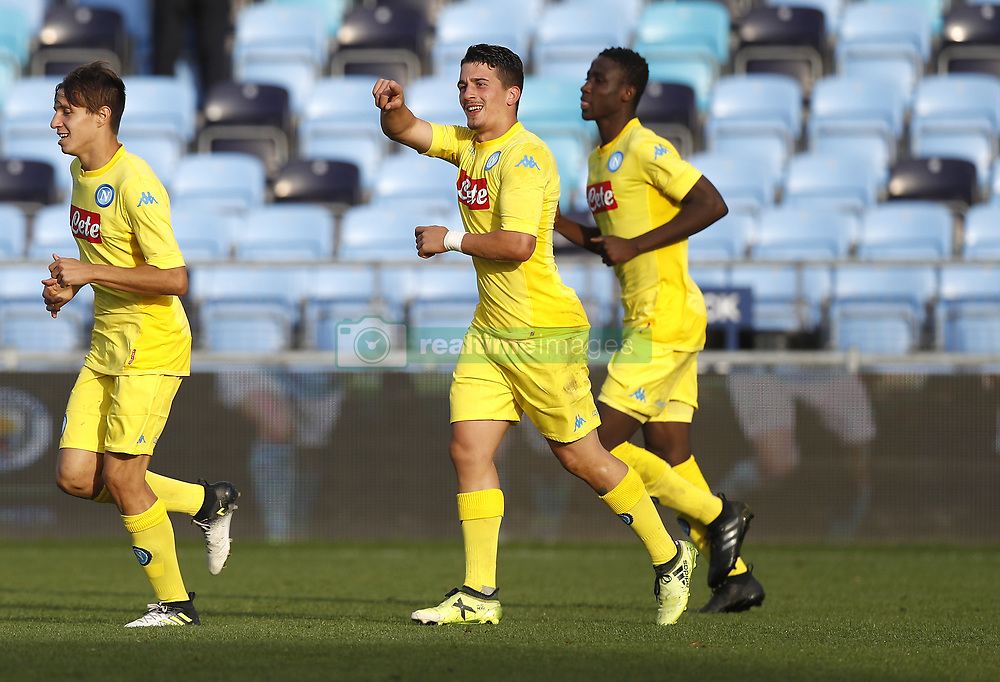 Napoli's Raffaele Russo (right) celebrates scoring his side's first goal of the game