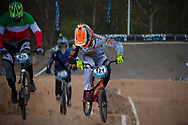 #121 (VAN DER BIEZEN Raymon) NED and #421 (RICCARDI Romain) ITA at the 2014 UCI BMX Supercross World Cup in Santiago Del Estero, Argentina.