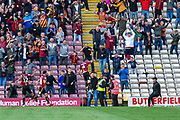 Paudie O'Connor of Bradford City jumps in celebration of his goal to make it 2-1 for Bradford City during the EFL Sky Bet League 2 match between Bradford City and Northampton Town at the Utilita Energy Stadium, Bradford, England on 7 September 2019.