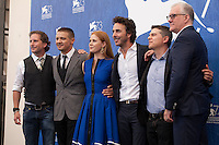 Aaron Ryder, Jeremy Renner, Amy Adams,  Shawn Levy, Dan Levine and David Linde at Arrival film photocall at the 73rd Venice Film Festival, Sala Grande on Thursday September 1st 2016, Venice Lido, Italy.