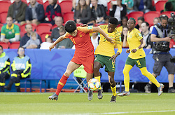 WANG Shanshan, Lebohang RAMALEPE in action during the match of 2019 FIFA Women's World Cup France group B match between South Africa and China, at Parc Des Princes stadium on June 13, 2019 in Paris, France. Photo by Loic Baratoux/ABACAPRESS.COM
