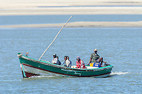 Motorised wooden boat acting as a taxi across the rio savanne, Rio Savanne, Beira, Sofala Province, Mozambique