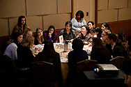 Washington, DC - The AACR Annual Meeting 2013: Speakers and attendees participate in roundtable discussions during the Women in Cancer Research Career Mentoring Session  at the the American Association for Cancer Research Annual Meeting here today, Monday, April 8, 2013. More than 18,000 physicians, researchers, health care professionals, cancer survivors and patient advocates are expected to attend the meeting at the Walter Washington Convention Center. The Annual Meeting highlights the latest findings in all major areas of cancer research from basic through clinical and epidemiological studies. Date: Monday, April 8, 2013 Photo by © AACR/Alan Lessig 2013 Technical Questions: todd@medmeetingimages.com; Phone: 612-226-5154.