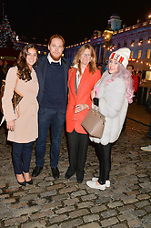 Left to right, BIANCA TRISTAO, HAMISH KHAYAT, KATE HOBHOUSE and HELENA KHAYAT at Skate at Somerset House in association with Fortnum & Mason held on 10th November 2014.