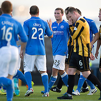 East Fife v St Johnstone...09.07.14  Pre-Season Friendly<br /> Chris Kane celbrates scoring the fourth goal<br /> Picture by Graeme Hart.<br /> Copyright Perthshire Picture Agency<br /> Tel: 01738 623350  Mobile: 07990 594431