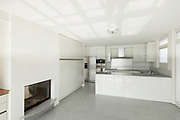Architecture, interior of a modern house, white kitchen
