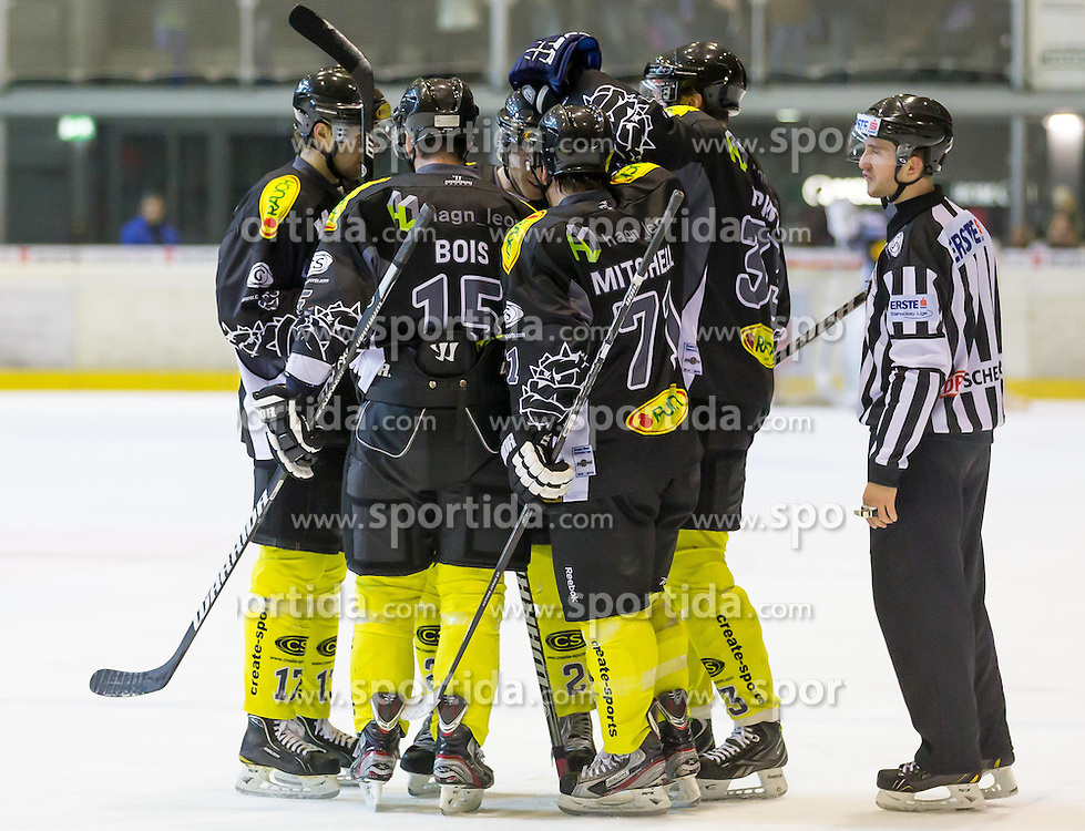 26.12.2012, Messestadion, Dornbirn, AUT, EBEL, Dornbirner EC vs HC TWK Innsbruck, 34. Runde, im Bild Torjubel bei Dornbirner EC// during the Erste Bank Icehockey League 34th round match between Dornbirner EC and HC TWK Innsbruck the Exhibition Stadium, Dornbirn, Austria on 2012/12/26, EXPA Pictures © 2012, PhotoCredit: EXPA/ Peter Rinderer