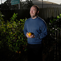 Jimmy Wales, creator and founder of the online encyclopedia Wikipedia at his home in Tampa, Florida, USA