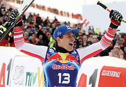 25.01.2020, Streif, Kitzbühel, AUT, FIS Weltcup Ski Alpin, Abfahrt, Herren, Sieger Präsentation, im Bild Matthias Mayer (AUT, 1. Platz) // race winner Matthias Mayer of Austria during the winner presentation for the men's downhill of FIS Ski Alpine World Cup at the Streif in Kitzbühel, Austria on 2020/01/25. EXPA Pictures © 2020, PhotoCredit: EXPA/ SM<br /> <br /> *****ATTENTION - OUT of GER*****