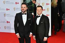 Ant and Dec arriving for the Virgin TV British Academy Television Awards 2017 held at Festival Hall at Southbank Centre, London.