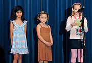 "10/23/09  -  Atlanta, Ga :  Students at Sagamore Hills Elementary School including Fatema Jalal with ""Take Care of Your Pets,"" Hannah Hayes with ""My Favorite Things"" and Sierra Clark with ""Mom"" perform their skits during the 2009 talent show featuring dance, music, comedy and other performances for the annual Showcase of Stars on Friday, October 23, 2009. Director Nancy Briggs, and assistant directors Joe Scivicque and Teresa Libbey helped produce more than 30 acts.    David Tulis         dtulis@gmail.com    ©David Tulis 2009"