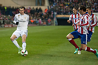 Atletico de Madrid's Diego Godin and Real Madrid's Gareth Bale during 2014-15 Spanish King Cup match at Vicente Calderon stadium in Madrid, Spain. January 07, 2015. (ALTERPHOTOS/Luis Fernandez)