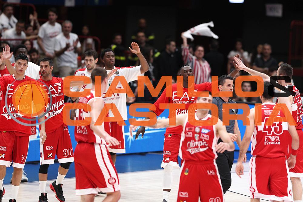 Olimpia EA7 Emporio Armani Milano<br /> EA7 Emporio Armani Olimpia Milano - Dolomiti Energia Aquila Basket Trento<br /> Lega Basket Serie A, Semifinali Playoff 2016/2017<br /> Milano, 25/05/2017<br /> Foto Ciamillo-Castoria