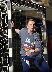 Goalkeeper Barbara Gorski of Celje at handball game ZRK Celje Celjske Mesnine vs RK Krim Mercator in final match of Slovenian Handball Cup,  on April 6, 2008 in Arena Golovec, Celje, Slovenia. Krim won the game 31:21 and became Cup Winner.  (Photo by Vid Ponikvar / Sportal Images)