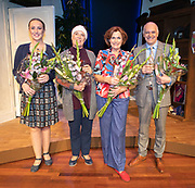 2018, September 24. Schouwburg Amstelveen. Premiere van Kunst en Kitsch. Op de foto: Liza van Zeijderveld, Raymonde de Kuyper, Liz Snoijink en Arcie Cupe