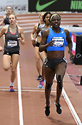 Mar 3, 3017; Albuquerque, NM, USA; Sharon Day-Monroe wins the pentathlon 800m in 2:17.55 during the USA Indoor Track and Field championships at the Albuquerque Convention Center. Day-Monroe placed second overall with 4,404 points.