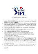 Pepsi IPL Image terms and conditions