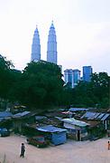 Neighborhood in Kuala Lumpur near the Petronas Towers.