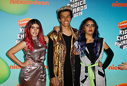 March 23, 2019 - Los Angeles, CA, USA - LOS ANGELES, CA - MARCH 23: Lesslie polinesios, Karen polinesios and Rafael polinesios of Los Polinesios attends Nickelodeon's 2019 Kids' Choice Awards at Galen Center on March 23, 2019 in Los Angeles, California. Photo: CraSH for imageSPACE (Credit Image: © Imagespace via ZUMA Wire)