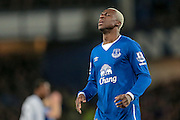 Arouna Koné (Everton) during the Barclays Premier League match between Everton and Newcastle United at Goodison Park, Liverpool, England on 3 February 2016. Photo by Mark P Doherty.