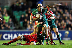 Vereniki Goneva of Leicester Tigers goes on the attack- Photo mandatory by-line: Patrick Khachfe/JMP - Mobile: 07966 386802 07/12/2014 - SPORT - RUGBY UNION - Leicester - Welford Road - Leicester Tigers v Toulon - European Rugby Champions Cup