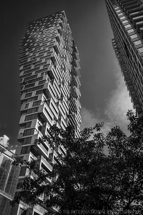 Vancouver House (New Residential Skyscraper)(monochrome)