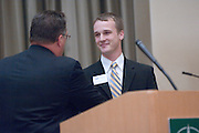 18174Sales Celebration and Awards Ceremony, April 19, 2007. Walter Hall Rotunda...Axline Scholarship Presented by Mr. Bill Axline to Aaron Lancaster