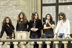 September 1, 1973 - Hollywood, California, U.S. - Deep Purple photographded at their press launch at Clearwell Castle in Gloucestershire, England in September, 1973. The band worked on material at the Gothic castle for the album 'Burn.'  .** NO ITALY  (Credit Image: © Armando Gallo via ZUMA Studio)