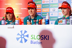 Lea Einfalt during press conference of Slovenian Nordic Ski Cross country team before new season 2019/20, on Novamber 12, 2019, in Petrol, Ljubljana, Slovenia. Photo Grega Valancic / Sportida