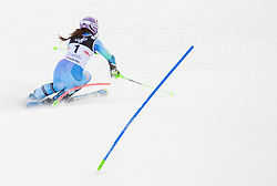 """Maze Tina (SLO) competes during FIS Alpine Ski World Cup 2014/15 5th Ladies' Slalom race named """"Snow Queen Trophy 2015"""", on January 4, 2015 in Crveni Spust hill at Sljeme near Zagreb, Croatia.  Photo by Vid Ponikvar / Sportida"""