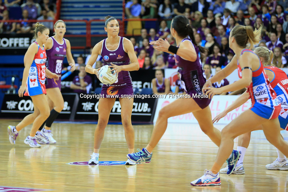 KIM RAVAILLION (QUEENSLAND FIREBIRDS) - Photo: SMP IMAGES /Action from the ANZ Netball Championship Conference Finals clash between the Queensland Firebirds v NSW Swifts, played at the Brisbane Convention & Exhibition Centre Broadbeach, Queensland.