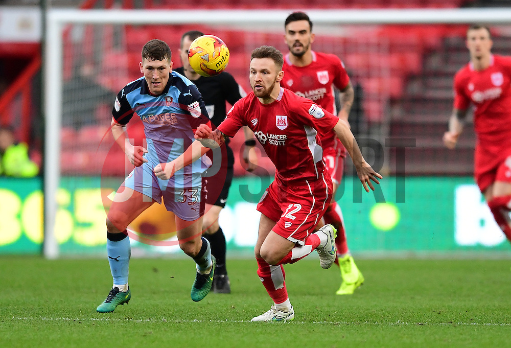 Matty Taylor of Bristol City chases the ball  - Mandatory by-line: Joe Meredith/JMP - 04/02/2017 - FOOTBALL - Ashton Gate - Bristol, England - Bristol City v Rotherham United - Sky Bet Championship