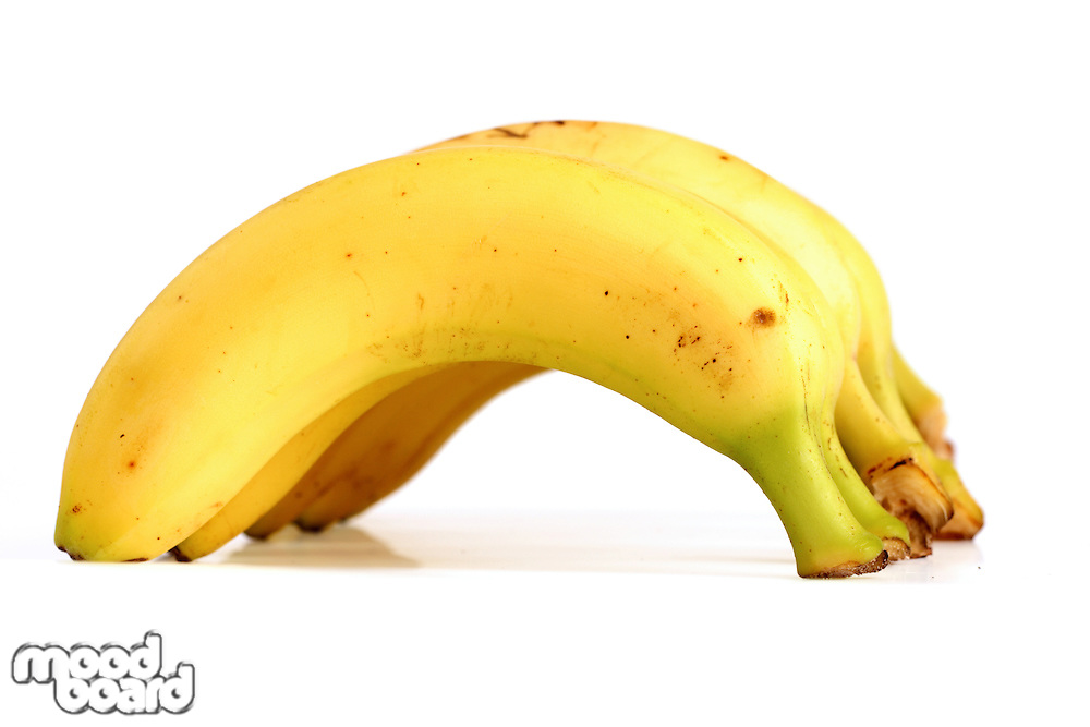 Banana on white background - studio shot