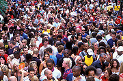 Crowds at the Good Times sound system, Notting Hill Carnival, 2000's