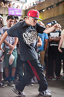 "Dancers and audience at The Bridge, an annual event celebrating hip-hop culture organised by Scanners Inc under Hungerford Bridge at London's South Bank. Kate Scanlan of Scanners Inc says ""It's about all ages and nationalities having fun and showing what hip hop culture can be. People here have known each other for 40 years and now their kids are dancing, that makes me really happy to facilitate it. Next year we are planning to run it 4 times, each with different themes."" Hungerford Bridge, South Bank, London, Photo credit Carole Edrich."