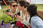 MELISSA MILLS; SASKIA BOXFORD; JULIET ANGUS, Cartier Queen's Cup final at Guards Polo Club, Windsor Great Park. 16 June 2013
