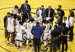 Dec 30, 2018; Morgantown, WV, USA; West Virginia Mountaineers head coach Bob Huggins talks to his team during a timeout during the first half against the Lehigh Mountain Hawks at WVU Coliseum. Mandatory Credit: Ben Queen-USA TODAY Sports