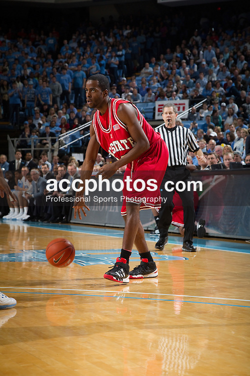 13 February 2010: North Carolina State Wolfpack guard Farnold Degand (12) during a 61-74 loss to the North Carolina Tar Heels at the Dean E. Smith Center in Chapel Hill, NC.