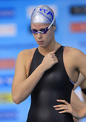 Federica Pellegrini of Italy warming up before the women's 200m Freestyle final race at day 4 of LEN European Short Course Swimming Championships Rijeka 2008, on December 14, 2008,  in Kantrida pool, Rijeka, Croatia. (Photo by Vid Ponikvar / Sportida)