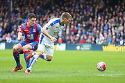 Leicester City midfielder Marc Albrighton (11) during the Barclays Premier League match between Crystal Palace and Leicester City at Selhurst Park, London, England on 19 March 2016. Photo by Phil Duncan.