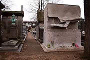"Oscar Wilde's Lipstick-Covered Tomb in Paris<br /> <br /> The memorial of the famous 19th century Irish writer and poet, Oscar Wilde, lies in a cemetery in Paris. Chiseled out of a 20-tonne block of stone, the tomb features a winged figure resembling the Sphinx on a forward flight with vertically outstretched wings, and is supposed to be based on Wilde's poem The Sphinx and inspired by the British Museum's Assyrian figures. For years, female fans have visited the huge memorial in Paris's largest cemetery Pére Lachaise to pay homage to the Irish playwright and left their mark in red lipstick. Over thousands of lipstick kisses and graffiti messages cover the bottom half of the tomb.<br /> <br /> The practice started in the late 1990s, when somebody decided to leave a lipstick kiss on the tomb. Since then lipstick kisses and hearts have been joined by a rash of red graffiti containing expressions of love, such as: ""Wilde child we remember you"", ""Keep looking at the stars"" and ""Real beauty ends where intellect begins"". Kissing Oscar's tomb on the Paris tourist circuit has become a cult pastime.<br /> ©Ann Erling Gofus/Exclusivepix"